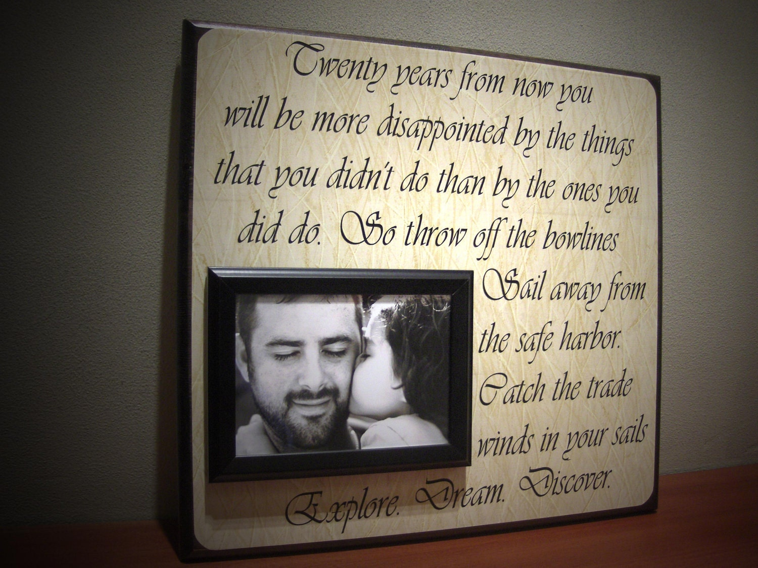 Frames With Quotes On Them: Personalized Picture Frame Gift Inspirational By