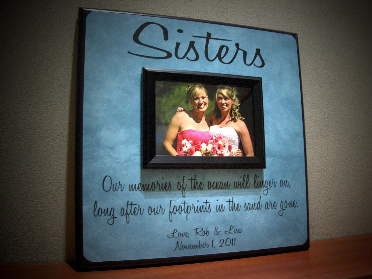 Sisters Photo Frame Wedding Thank You Gift by YourPictureStory