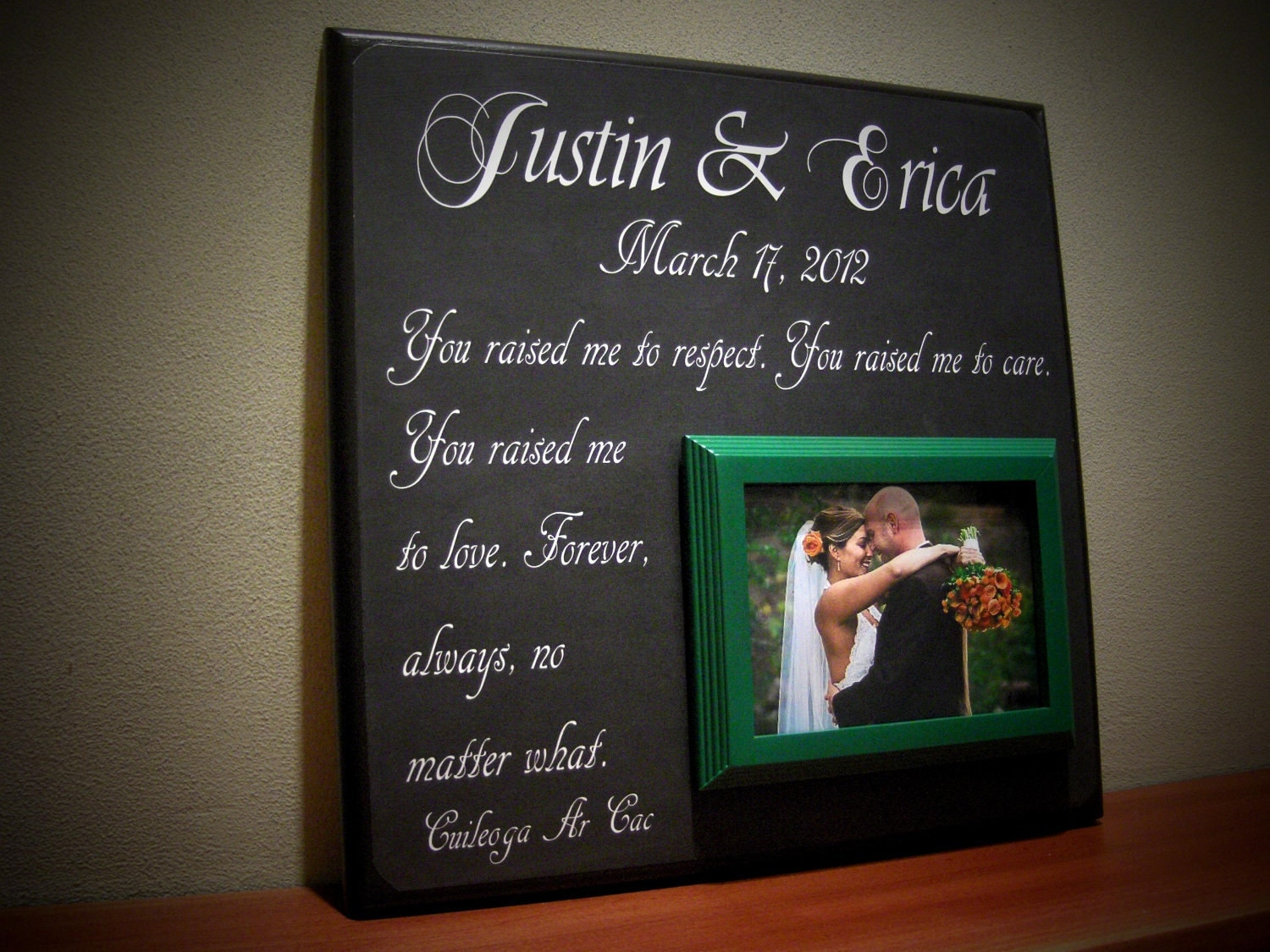Wedding Day Gift For Parents : Personalized Wedding Gift for Parents Parents by YourPictureStory