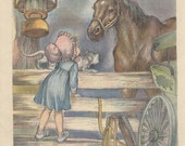 """VINTAGE CHILDRENS BOOK Page 1946 """"The Horse"""""""