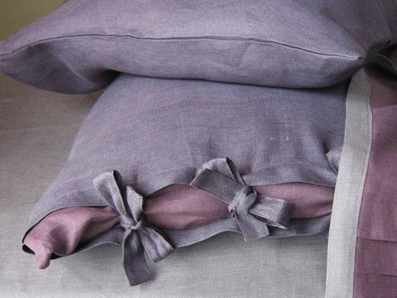 Linen pillowcases. Reserved