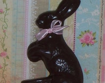 Fake Chocolate Bunny Ribbon great for Easter Basket Filler, Photo Props, Home Kitchen Party Decorations Display, Easter Basket Filler