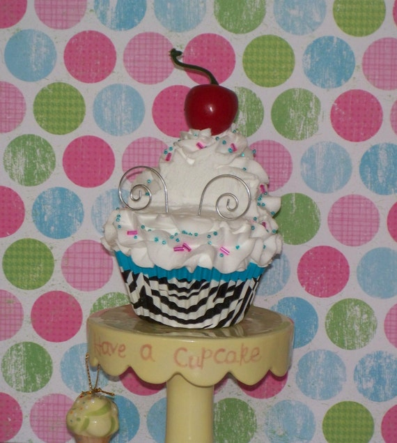 Original Business Card Holder and Paperweight Fake Cupcake great for Bakery Shoppe, Realtors, Cupcake Entrepreneurs,Office Desk
