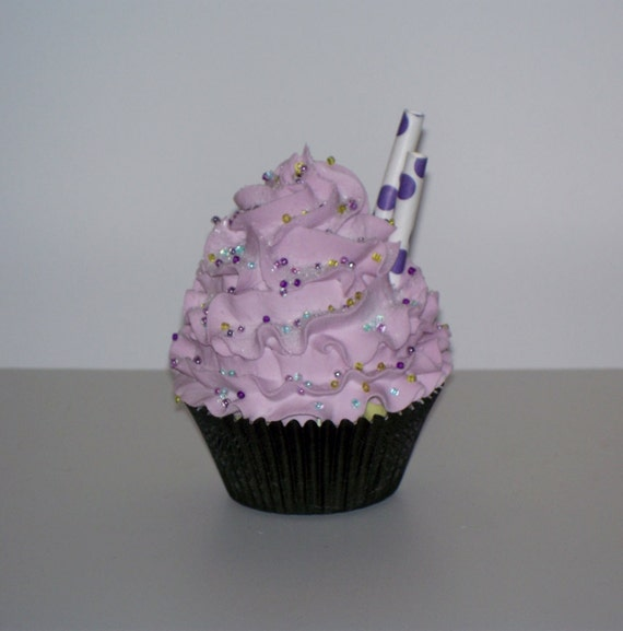 lavender fake cupcake kitchen decor and by