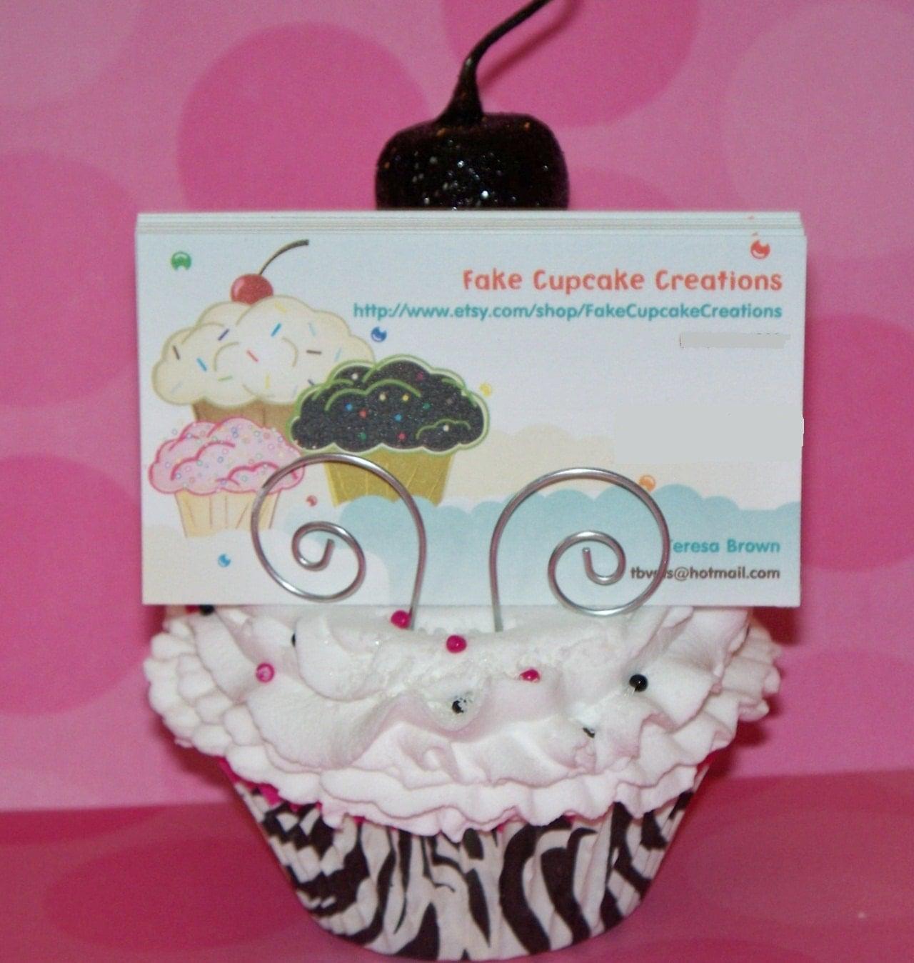 original fake cupcake business card holder by