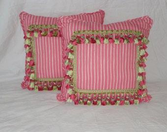 Pink Stripe Designer pillows