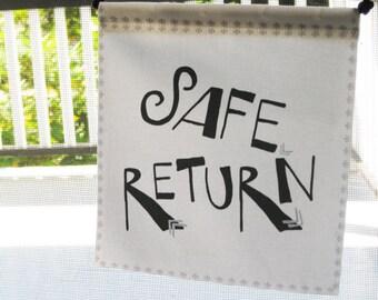 Modern Prayer Flag, Safe Return, Travel
