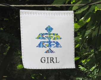 Modern Prayer Flag, GIRL, for girls of all ages, weave the tapestry of your life, women, protection, inspiration, colorful, modern