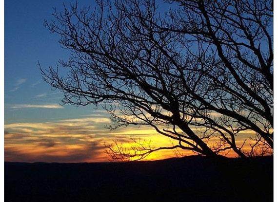 Appalachian Mountains Sunset Photo from Shenandoah National Park Fine Art Print