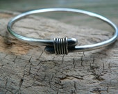 Tethered - Sterling Silver Bangle Bracelet