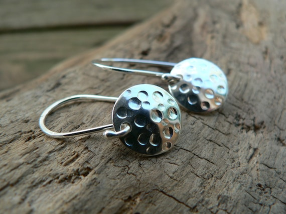 Every Day Shinies - Pretty Textured  Sterling Silver Earrings