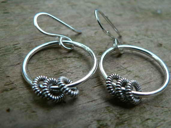 Jingle Rings - Sterling Silver Hoop Earrings