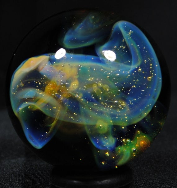 Interacting Irregular Galaxies Glass Marble