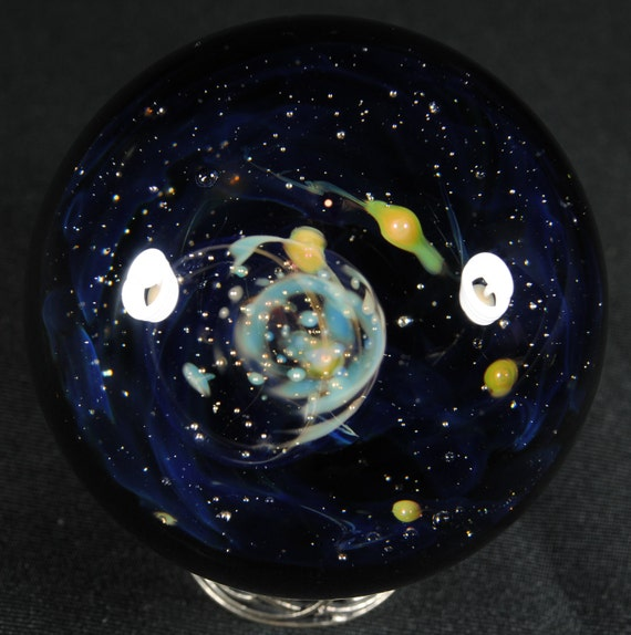 Star Cluster and Stars Glass Marble