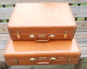 Samsonite Vintage Caramel Brown Luggage Set of 3 RESERVED