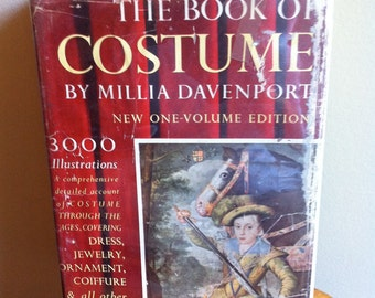 The Book of Costume by Millia Davenport reference vintage history