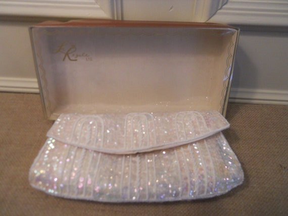 La Regale Vintage Sequin beaded clutch RESERVED FOR TERRI