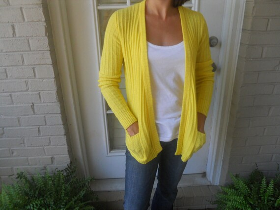 Lemon Yellow California Cardigan