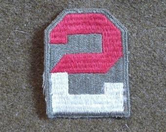 WW2 US 2nd Army patch, Original WW2 US Army Shoulder Patch