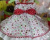 Childrens Spring Custom Ruffled  Dress Girls Baby Newborn 0-3 mo 3-6 mo, 6-9 mo, 12m 18 mo