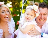 Flower Girl Pink Twirl Dress and Ruffled Bloomers Newborn-18 months