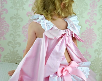 Flower Girl PrincessTwirl dress & Ruffled Bloomers Ballet Pink and white 2 piece
