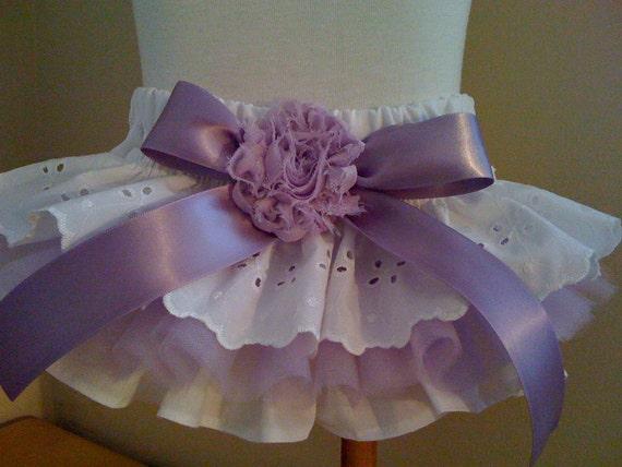 Girls Baby Toddlers Lavender Custom Ruffle bloomers 0-3 mos,3-6 mo, 6-9mo , 9-12 mo,  18 mo 24 mo 2T