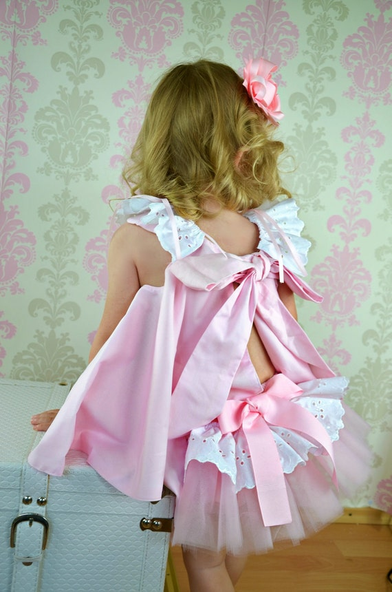 Easter Dress & Ruffled bloomers  Newborn thru 18 mos. Childrens Fashion Inspiration Ballet Pink and white 2 piece