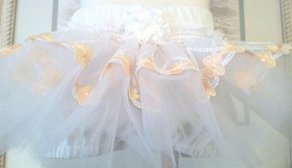 Flower girl White Ruffled Bloomers Childrens Fashion  Newborn thru 2T