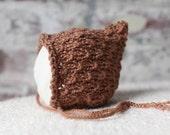Elfkin Pixie Newborn Baby Hat - Pecan