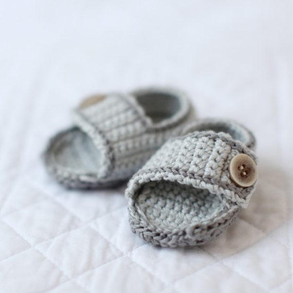 Crochet cotton baby sandals 0 to3 mo and 3 to 6 mo