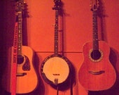 Banjo and Guitars, Kentucky Coffeetree Cafe, in downtown Frankfort--8 x 10 fine art photo, signed
