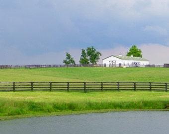 Barn on Bluegrass Farm, Bourbon County, Kentucky--5 x 7 fine art photo, signed