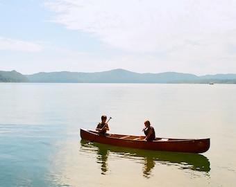 Boys in a Canoe, Cave Run Lake, Kentucky--8 x 10 fine art photo, signed