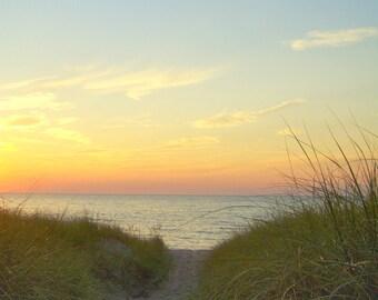 Sunset, Lakeside, Michigan--8 x 10 fine art photo, signed