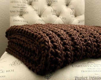 Sale |  WEST BAY THROW in Brown - Soft, warm & cozy throw - Wedding, housewarming, anniversary and holidays or for your home