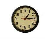 Large Industrial School Clock - General Electric