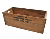 Rustic Wooden Crate / Wooden Box / Vintage Storage Crate