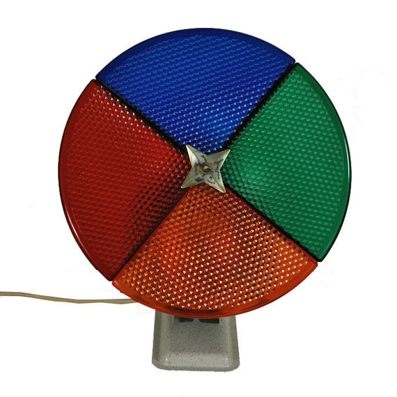 Silver Christmas Tree Color Wheel: Vintage Color Wheel / Penetray Color Wheel / By Midmoderngoods