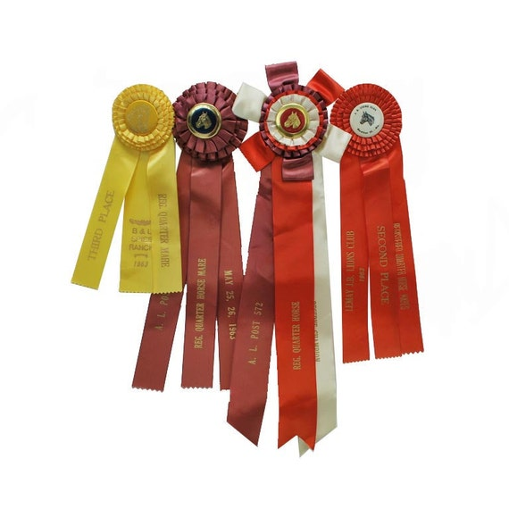 RESERVED FOR BRENDA Horse Show Ribbons / Equestrian Trophy / Vintage Ribbons