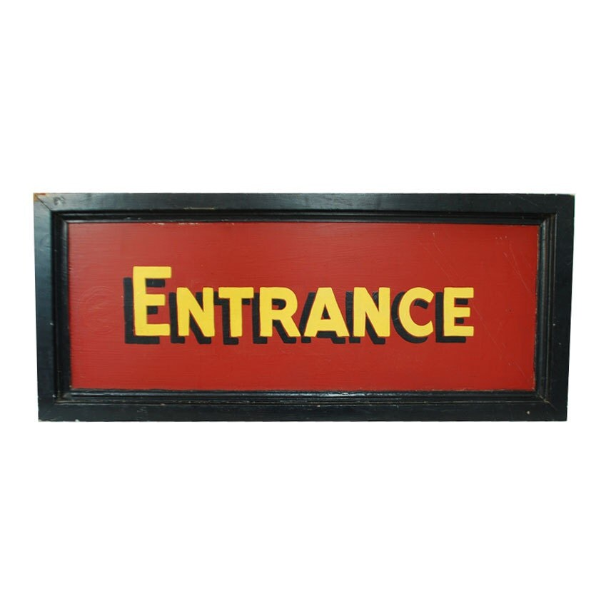 Large Wood Entrance Sign Hand Painted Store Sign