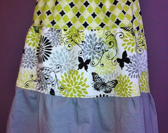 Women's Tiered Skirt - custom, made to order, you choose prints