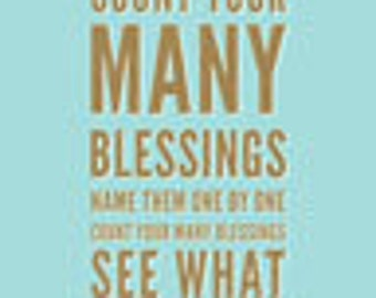 Count Your Many Blessings 5x7 Print