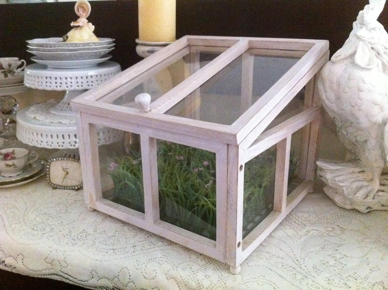 Sale Shabby Chic Wooden Terrarium House Cottage Chic White
