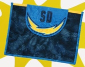 Quilted Comp-Q-Cover iPad Sleeve -- San Diego Chargers Design