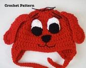 Clifford the Big Red Dog Crochet Hat PATTERN PDF