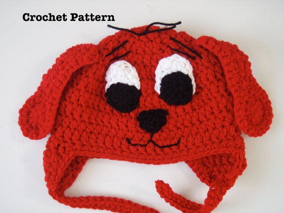 Clifford the Big Red Dog Crochet Hat PATTERN PDF