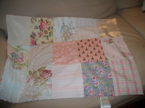 Baby quilt for the stroller or carseat