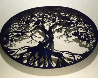 Oval Tree of Life Metal Wall Art