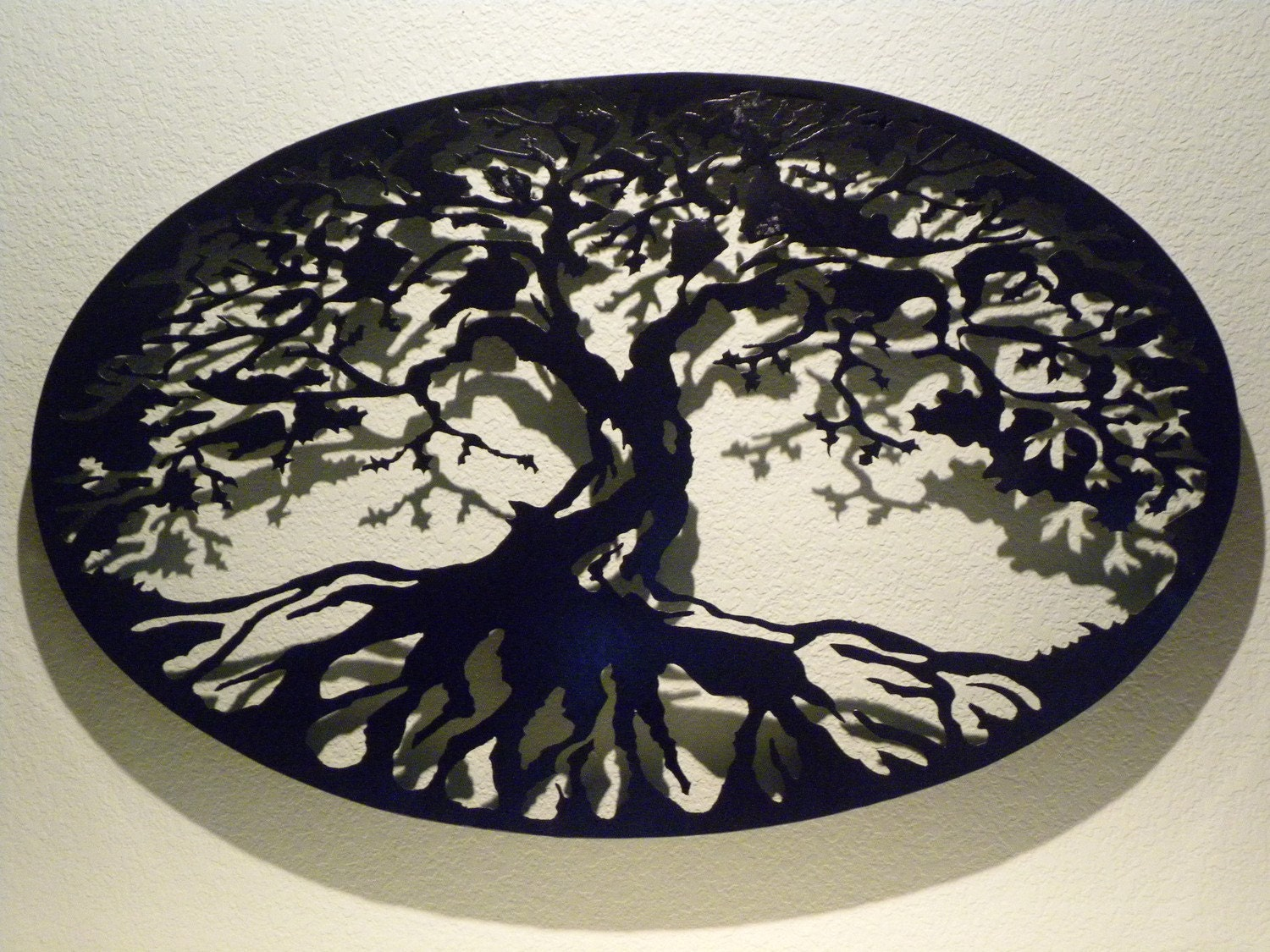 oval tree of life metal wall art. Black Bedroom Furniture Sets. Home Design Ideas